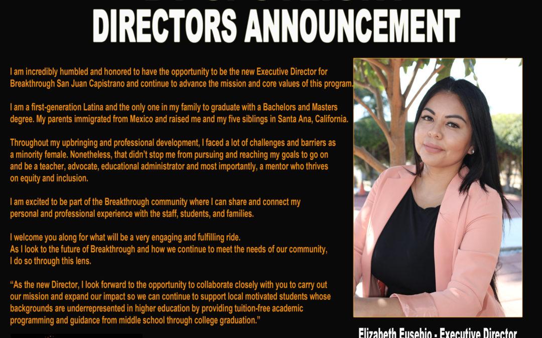 BT Spotlight: New Executive Director Elizabeth Eusebio + Meet and Greet