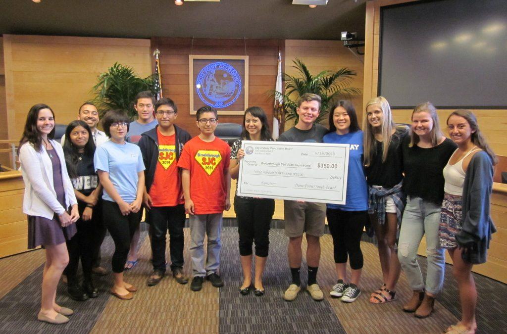 Dana Point Youth Advisory Board chooses BTSJC for donation